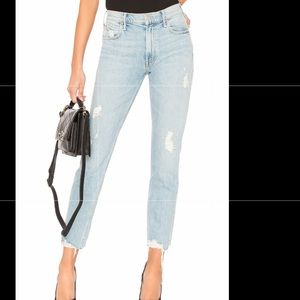 Mother The Flirt Ankle Fray jeans , new w/tags